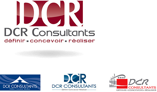creation du logo DCR Consultants